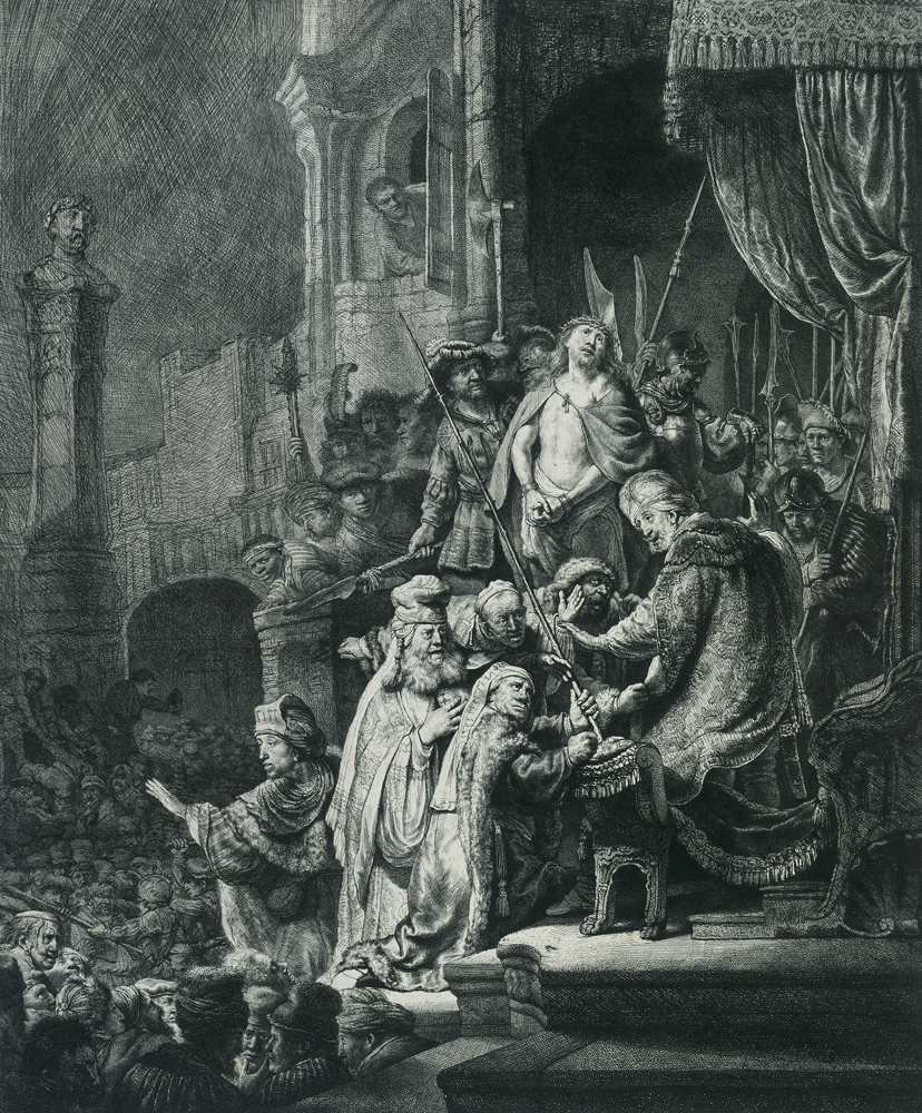 2020 Young Rembrandt Exhibition – Rembrandt and Jan van Vliet, Christ before Pilate, Ecce Homo, 1635–6 © Fondation Custodia, Paris