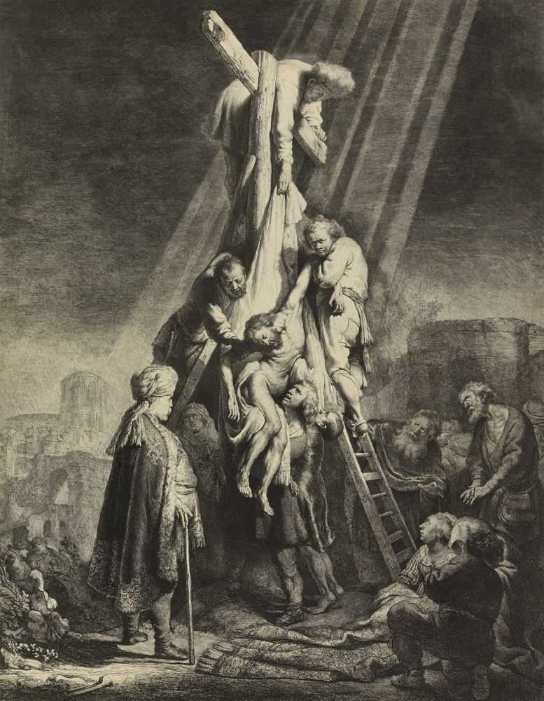 2020 Young Rembrandt Exhibition – Rembrandt and Jan van Vliet, Descent from the Cross, 1633 (second plate) © Fitzwilliam Museum, University of Cambridge