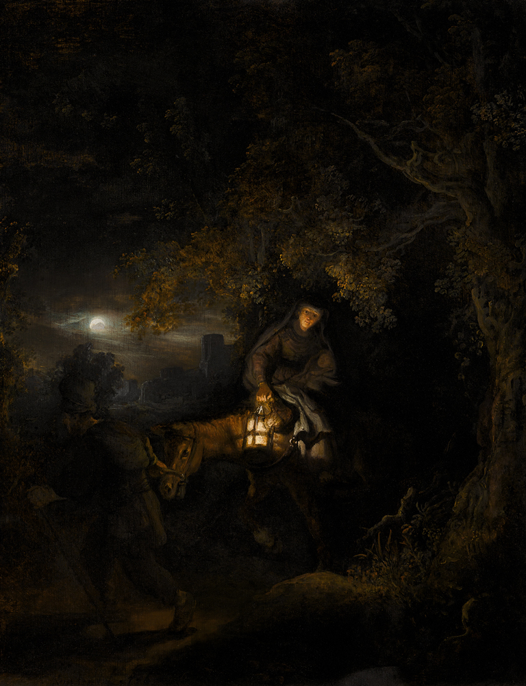 2020 Young Rembrandt Exhibition – Rembrandt, The Flight into Egypt, 1634 © Private Collection