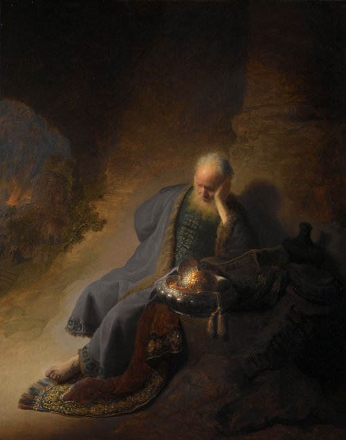 2020 Young Rembrandt Exhibition – Rembrandt, Jeremiah Lamenting the Destruction of Jerusalem, 1630 © Rijksmuseum, Amsterdam