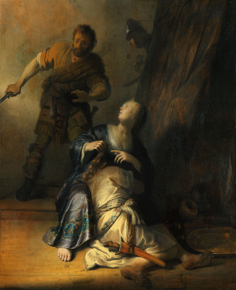 2020 Young Rembrandt Exhibition – Rembrandt, Samson and Delilah, 1628 © Gemäldegalerie, Staatliche Museen zu Berlin