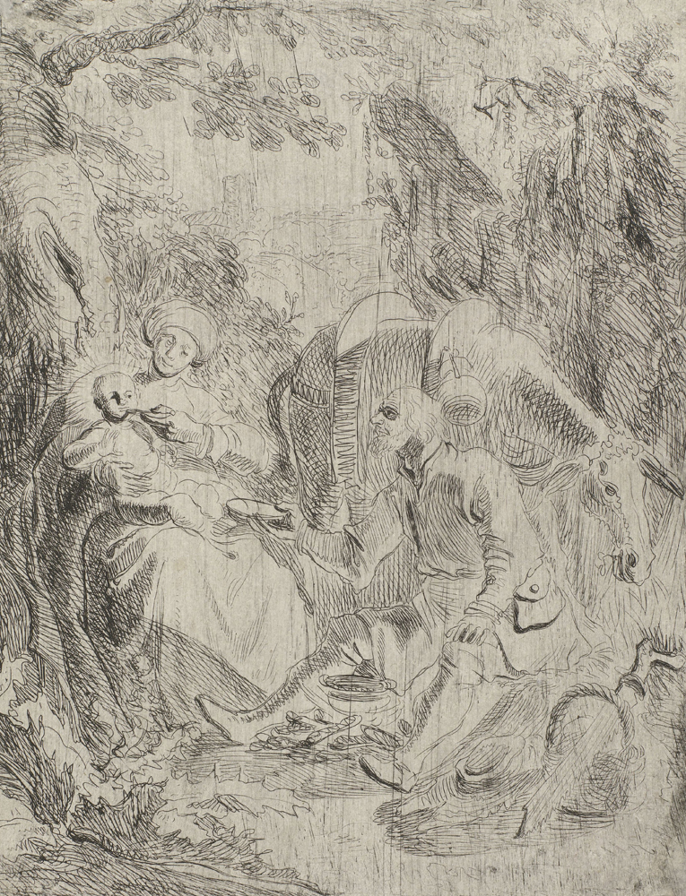 2020 Young Rembrandt Exhibition – Rembrandt, The Rest on the Flight into Egypt, c. 1626 © Rijksmuseum, Amsterdam