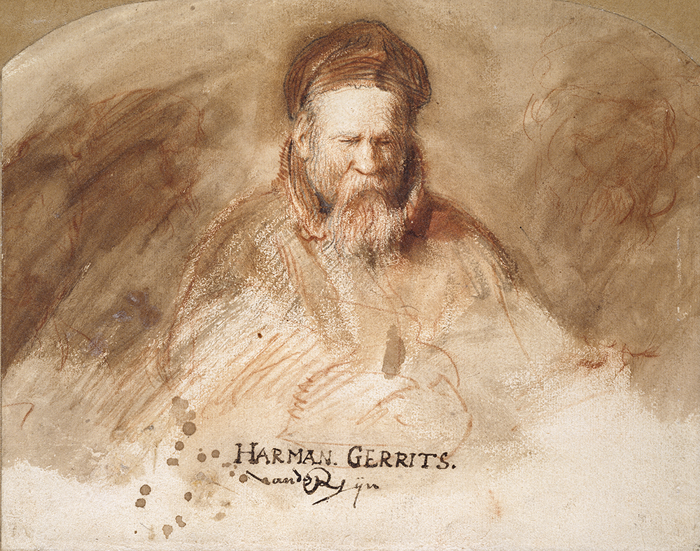 Chalk drawing of Rembrandt's father