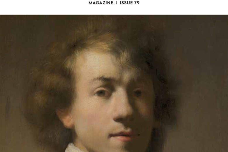 Front cover of the Ashmolean Magazine issue 79, with Rembrandt portrait in the centre