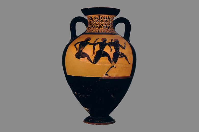 panathenaic runners amphora at the ashmolean museum