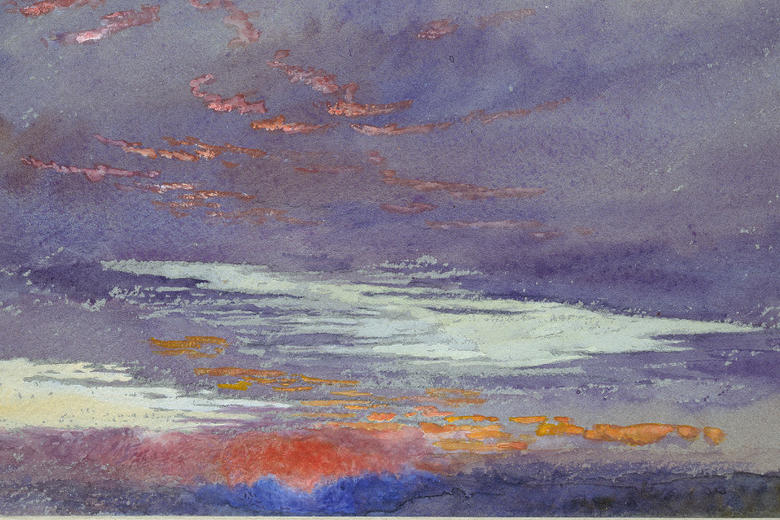 John Ruskin, Study of Dawn: Purple Clouds