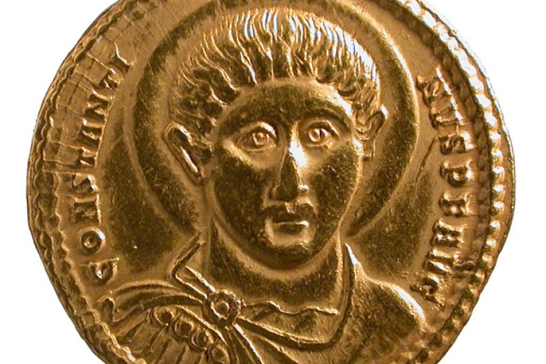 Gold coin of Constantine Ashmolean
