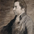 Portrait of Francis Douce, who is sat and facing to the left