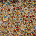 Colourful and detailed embroidered cushion cover