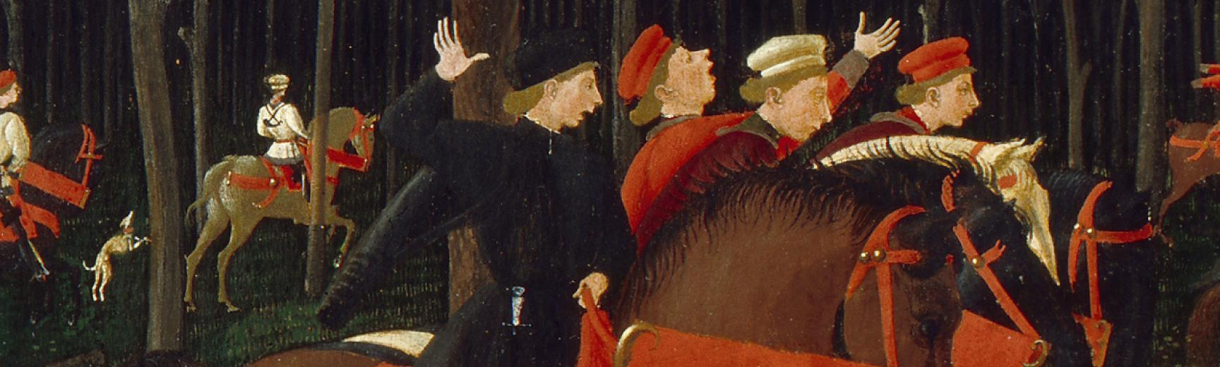 The Hunt in the Forest detail