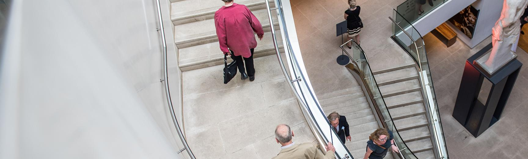 Visitors on the Atrium Staircase