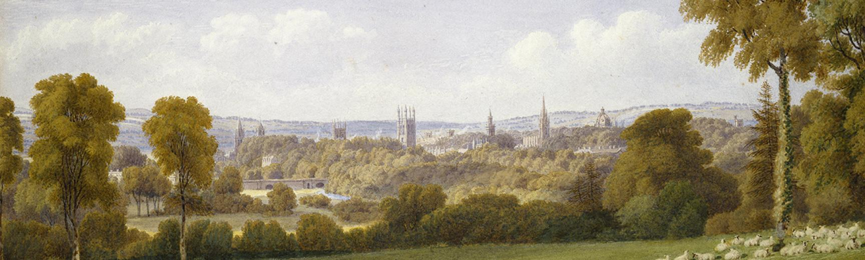 banner William Turner of Oxford, artist View of Oxford from Headington