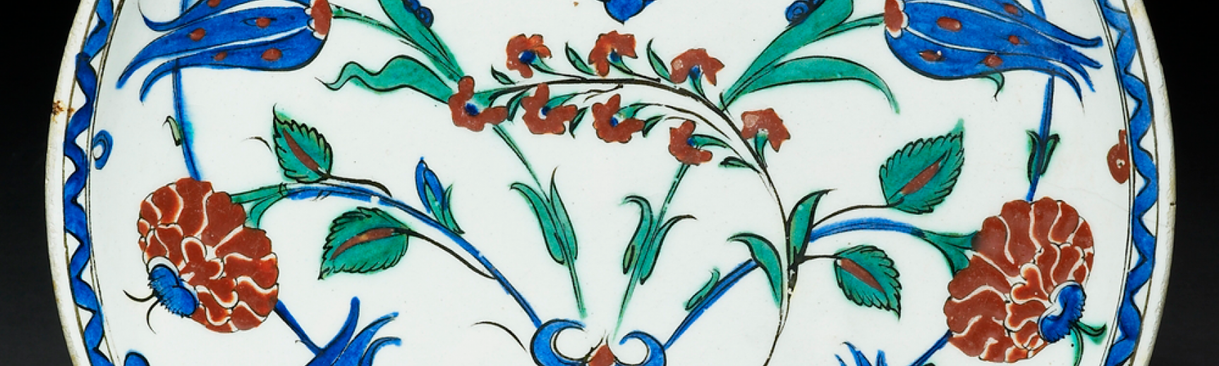 Iznik dish with roses and tulips EA1978.1423