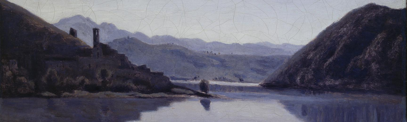 Lago di Piediluco, Umbria (detail) by Jean Baptiste-Camille Corot (1796-1875)