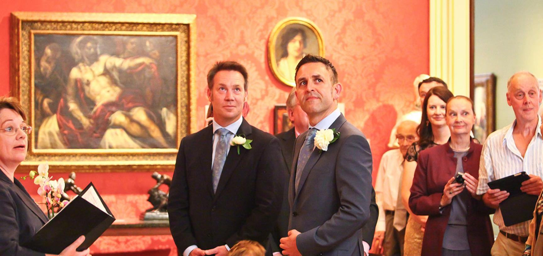 A Wedding in the Mallett Gallery of the Ashmolean Museum – Venue Hire
