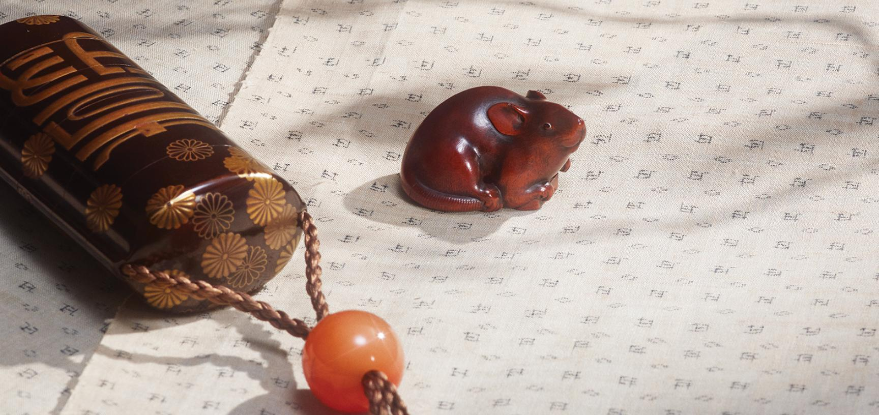 Netsuke in the form of a rat, Kano Tomokazu, 1800-40