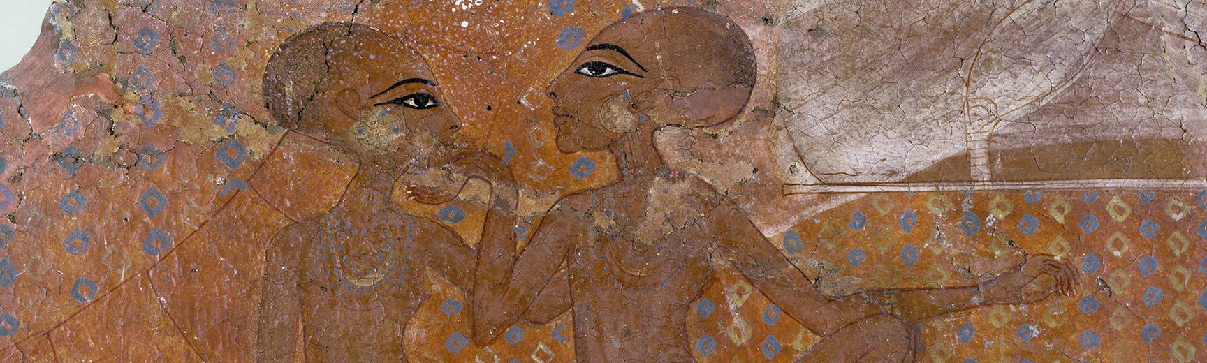 Fresco fragment with the daughter of Akhenaten and Nefertiti