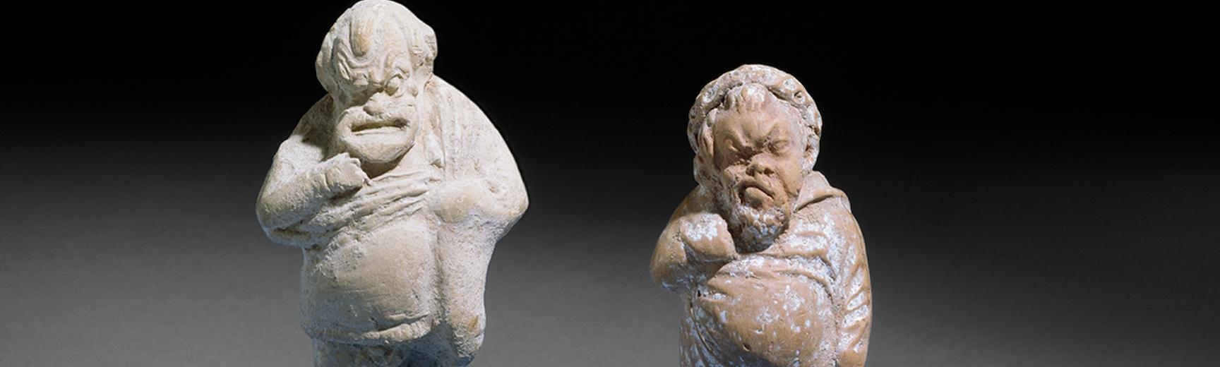 Terracotta figurine of a Comic Male Actor