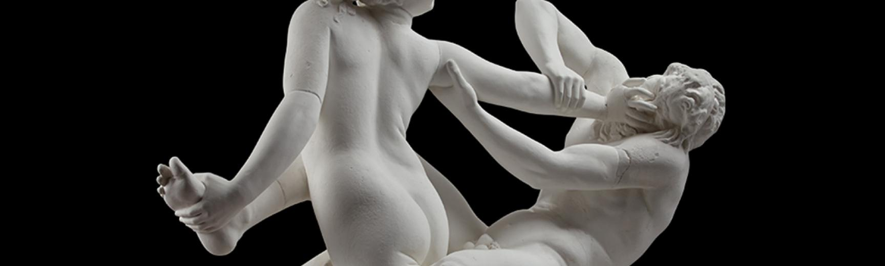 Statue of Satyr and Hermaphrodite