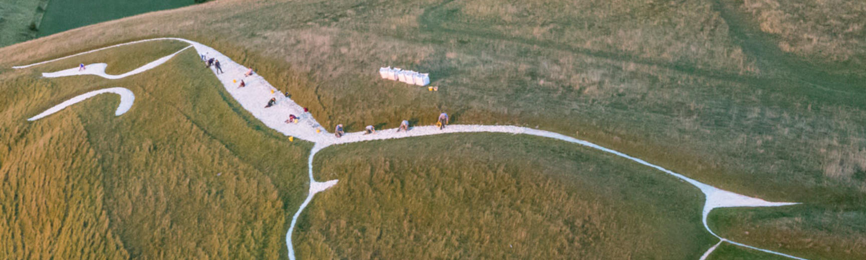 An image of White Horse Hill, National Trust, Uffington, Oxfordshire for Ashmolean Museum online talk Land of White Horse by David Miles