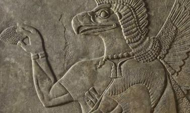 Protective spirit (detail) Nimrud, Iraq from the Ashmolean collections