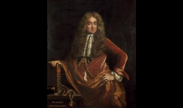 Portrait of Elias Ashmole by John Riley