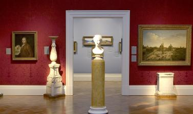 The Britain and Italy Gallery at the Ashmolean Museum