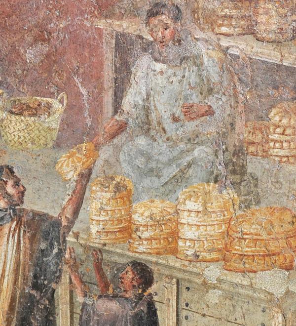 9071 affresco con vendita del pane