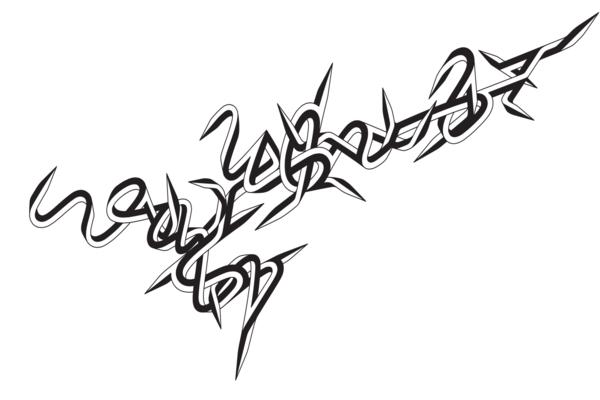 Graffiti artwork by artist Enrico Isamu Oyama