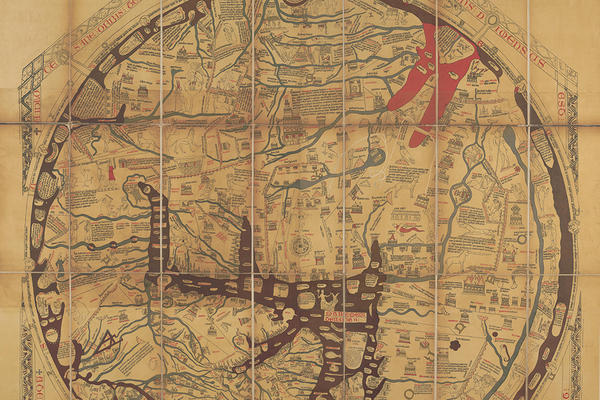 hereford map facsimile by havergal