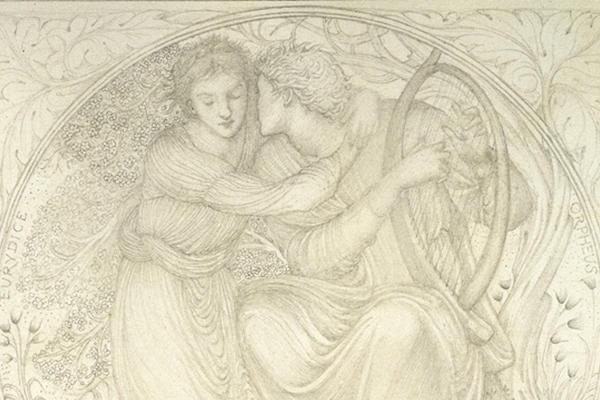 Edward Coley Burne-Jones, Orpheus playing to Eurydice