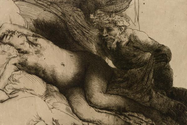 Rembrandt, Jupiter and Antiope, 1659