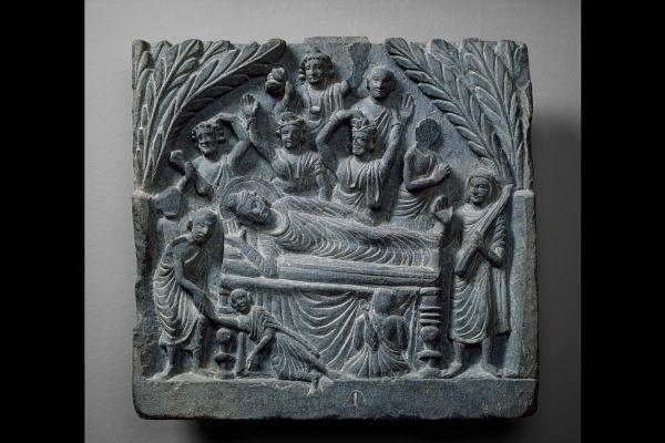 Relief showing death of Buddha
