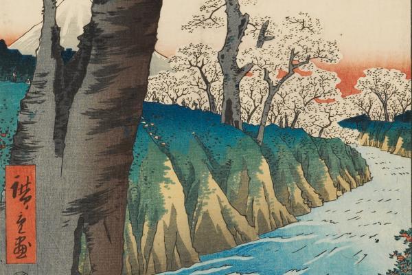 Koganei in Musashi Province, Utagawa Hiroshige, 1858