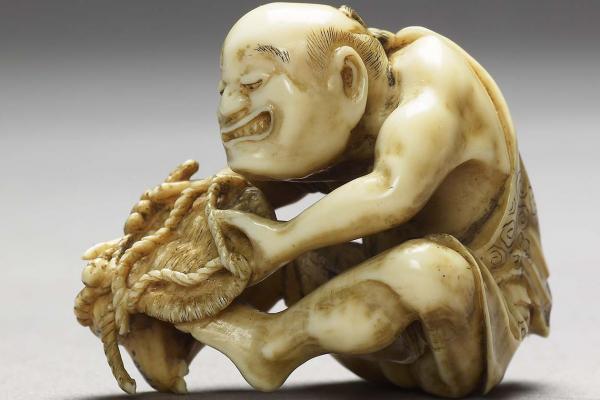 The Basket Maker, Netsuke, Japan, 1780-1820