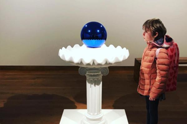 Jeff Koons exhibition Instagram photo by tumblingbaytoo