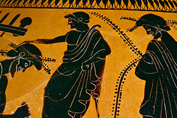 Detail of Greek pot