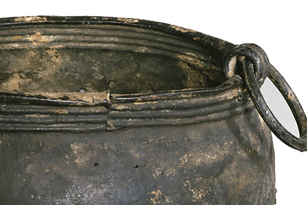 Large bronze cauldron