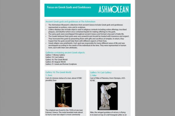 Focus on greek gods and goddesses