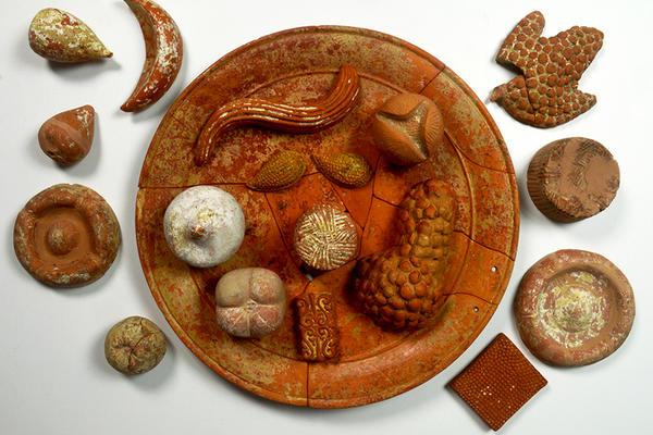 Terracotta models of foodstuff
