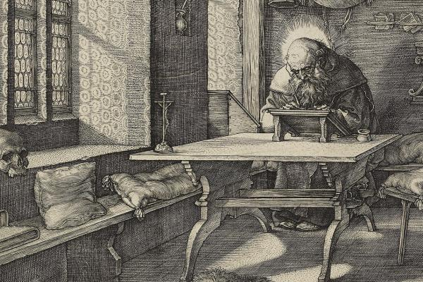 St Jerome in his Study by Albrecht Dürer at the Ashmolean