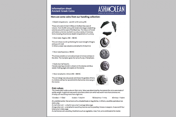 learn pdf information sheet ancient greek coins
