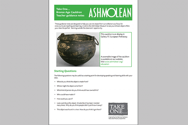 learn pdf take one bronze age cauldron teacher