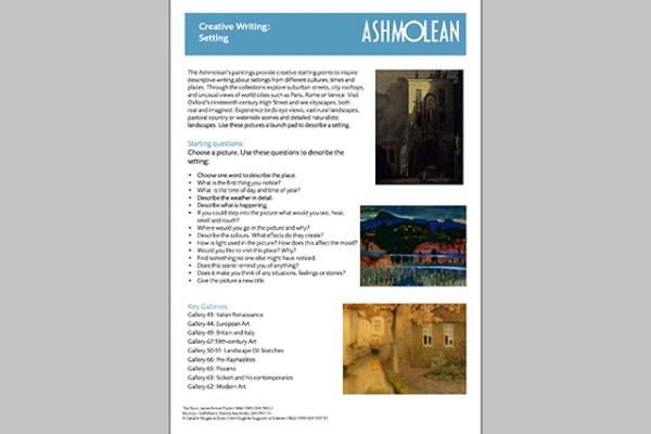 learn pdf creative writing setting