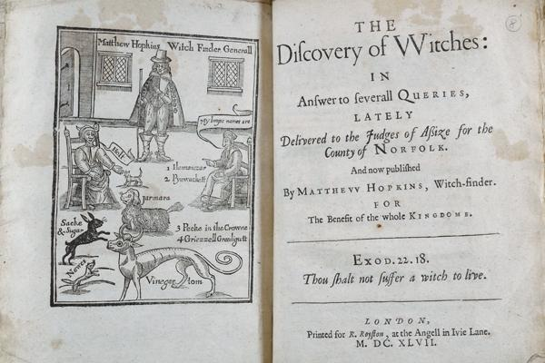 The Discovery of Witches 1647 © Queens College, Oxford