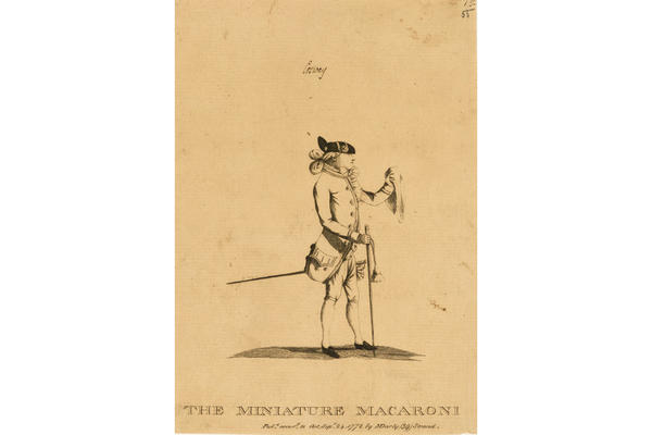 Matthew Darly, The Miniature Macaroni (Richard Cosway)