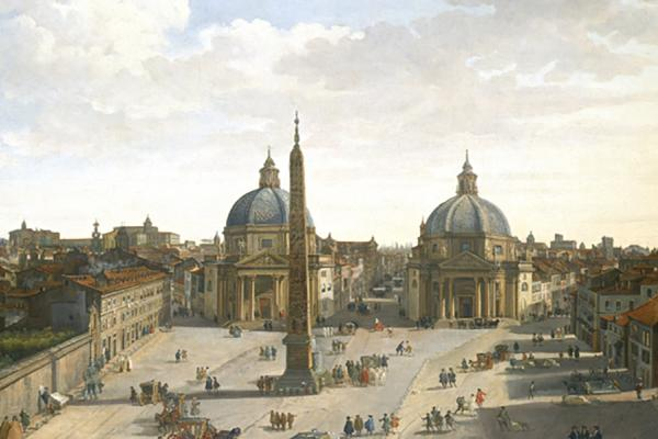piazza del popolo at the ashmolean museum