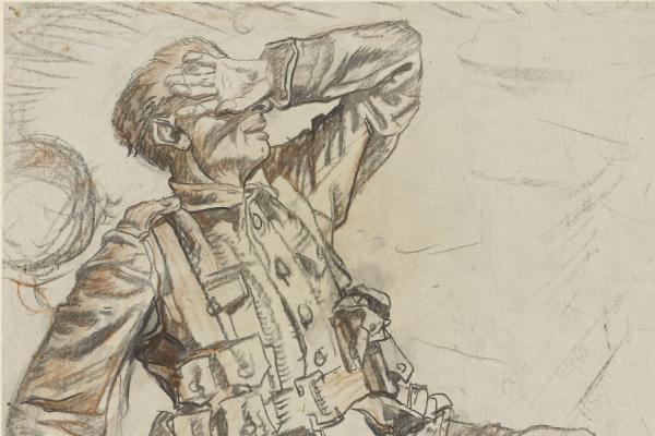 Soldiers Under Airburst Fire, Artists Under Fire
