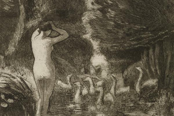 Pissarro, Bathers with Geese