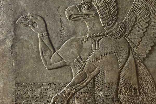 Assyrian relief fragment (detail), Iraq, 702 BC